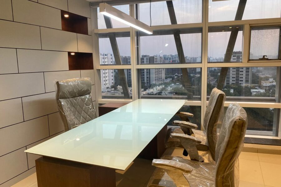 1084 Sq.Ft Furnished Office For Sale in Mondeal Square, SG Highway, Ahmedabad.