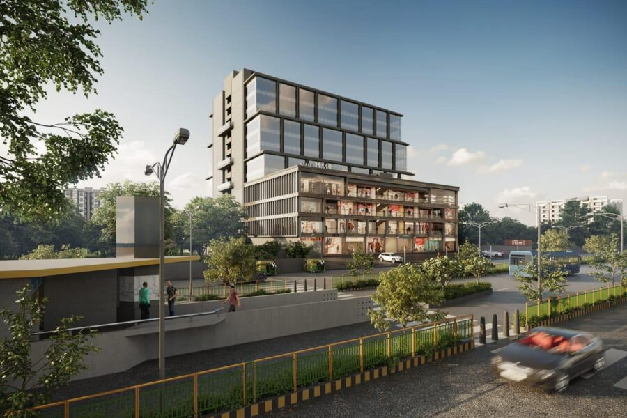 Palak Prime Commercial Offices & Showrooms For Sale in Iscon Ambli Road Ahmedabad.