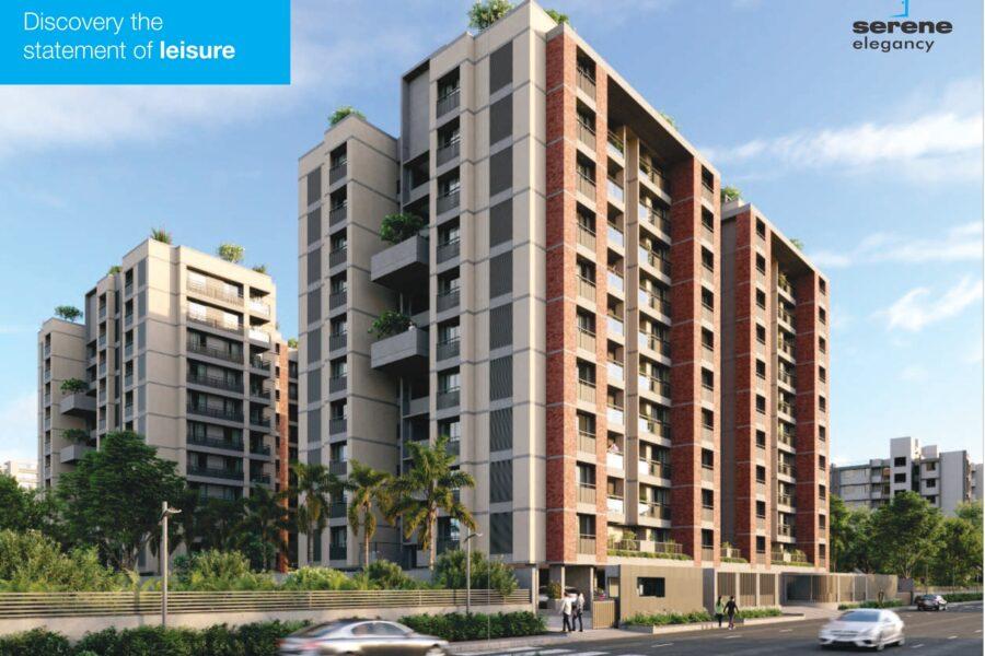3 BHK Flat For Sale In Serene Elegancy Ambli Ahmedabad.