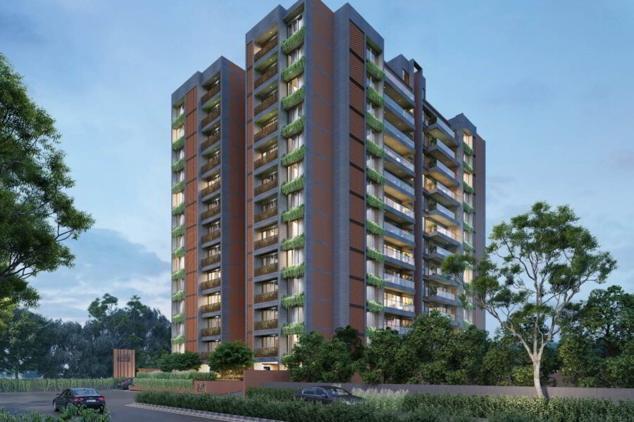 4 BHK + WFH Apartment For Sale In Shivalik Edge, Ambli, Ahmedabad.